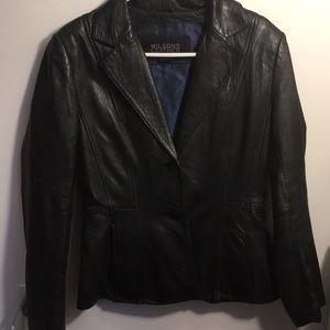 Wilson's leather jacket black
